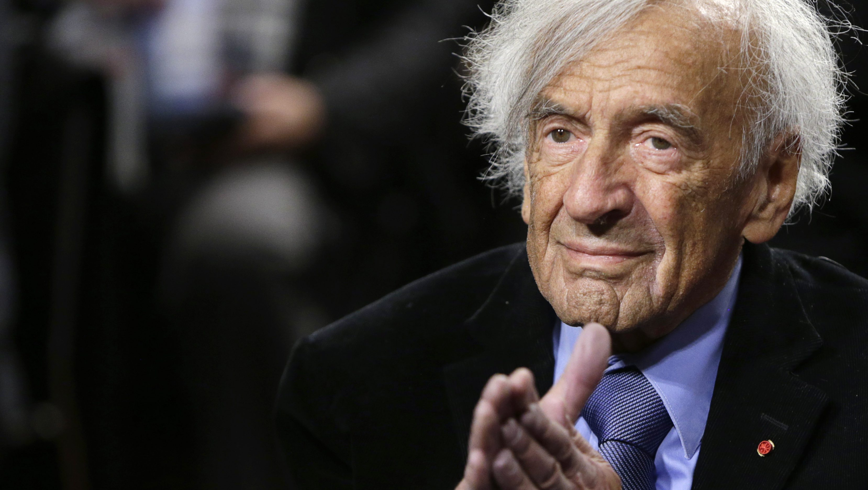 Nobel Peace Laureate Wiesel is seen before participating in a roundtable discussion on Capitol Hill in Washington