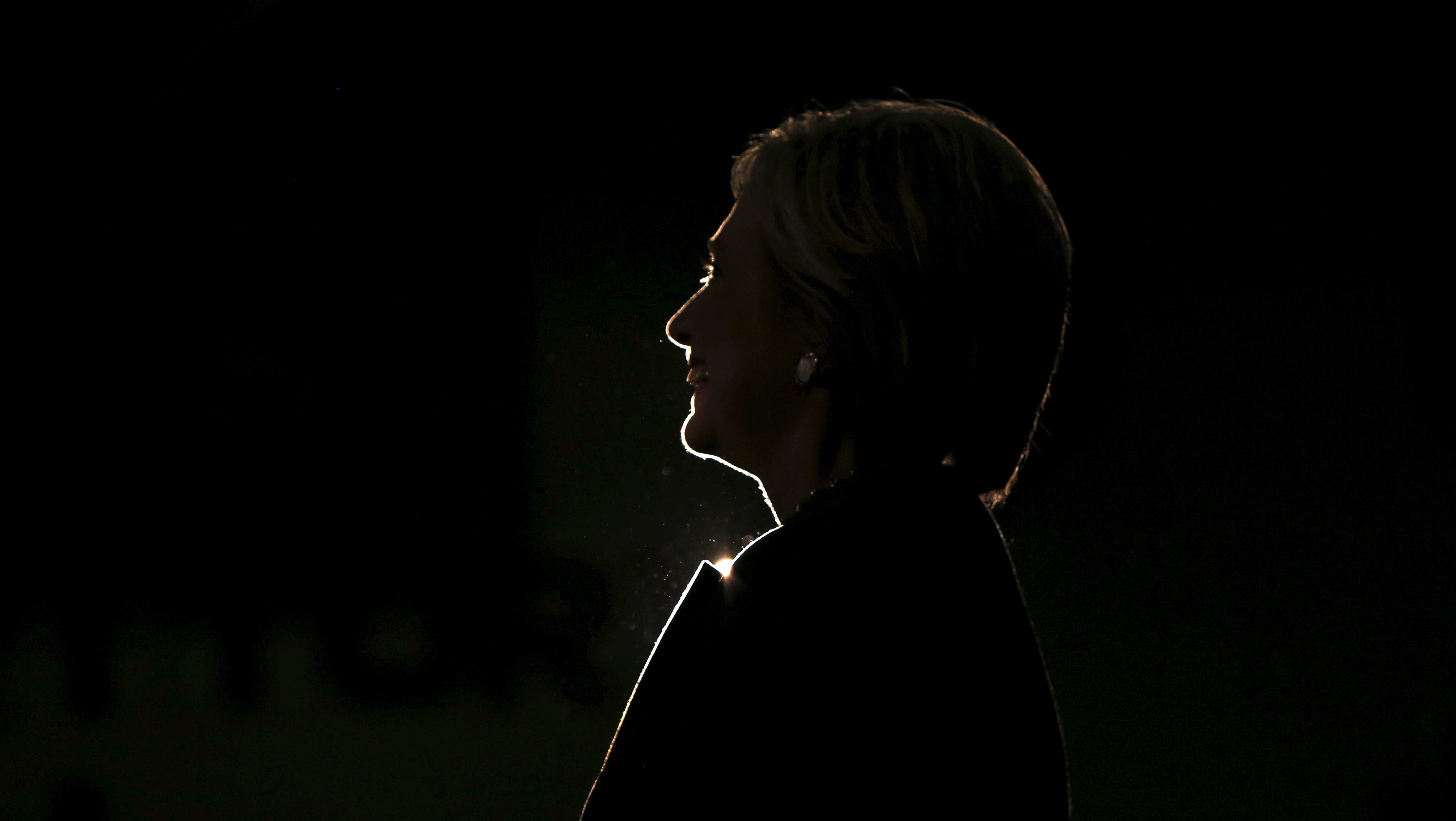 U.S. Democratic presidential candidate Hillary Clinton rallies with supporters at Lake Taylor Senior High School in Norfolk, Virginia, February 29, 2016.