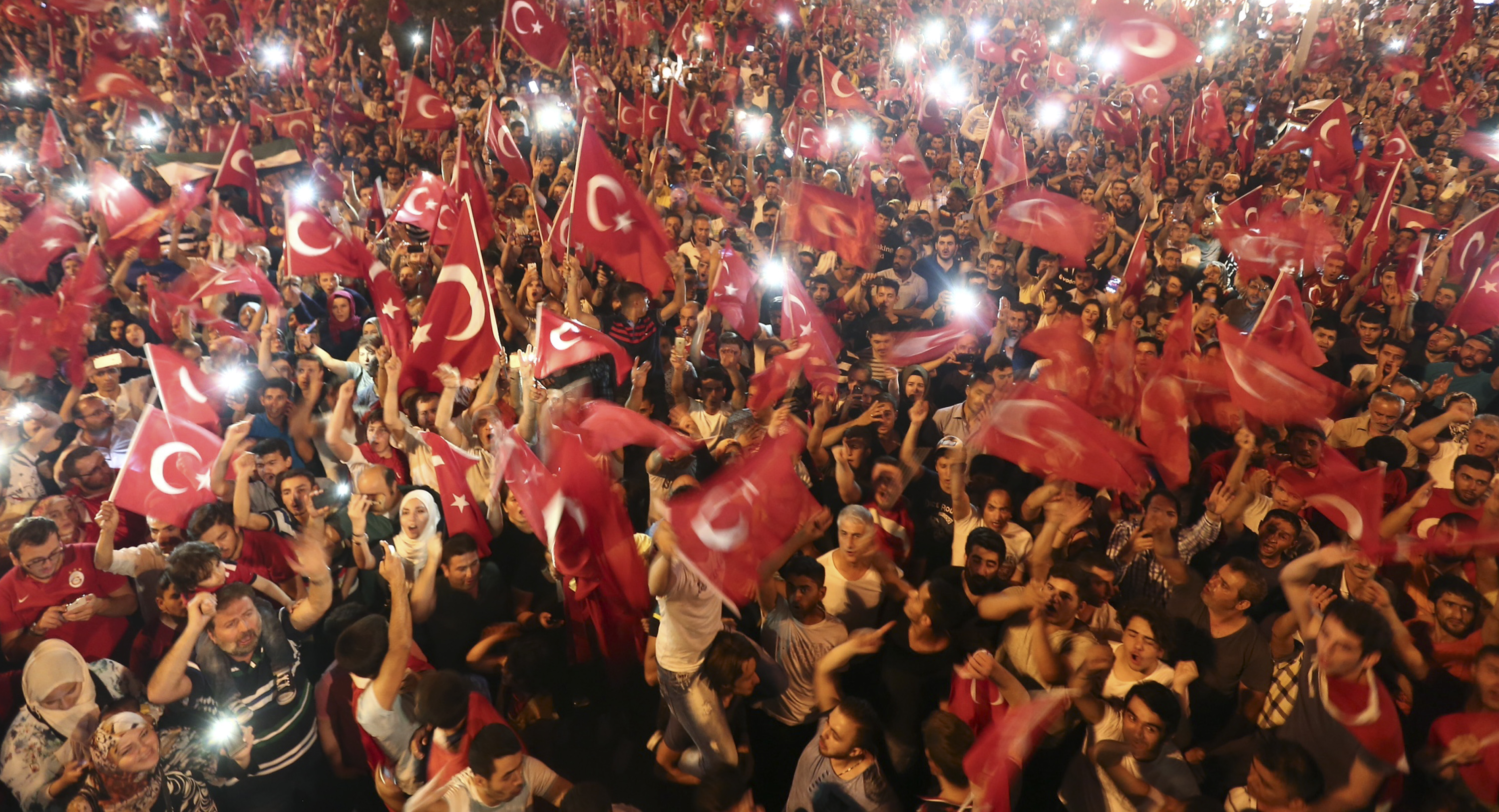 Following a social media blackout, people gather on Taksim Square in Istanbul, Turkey.