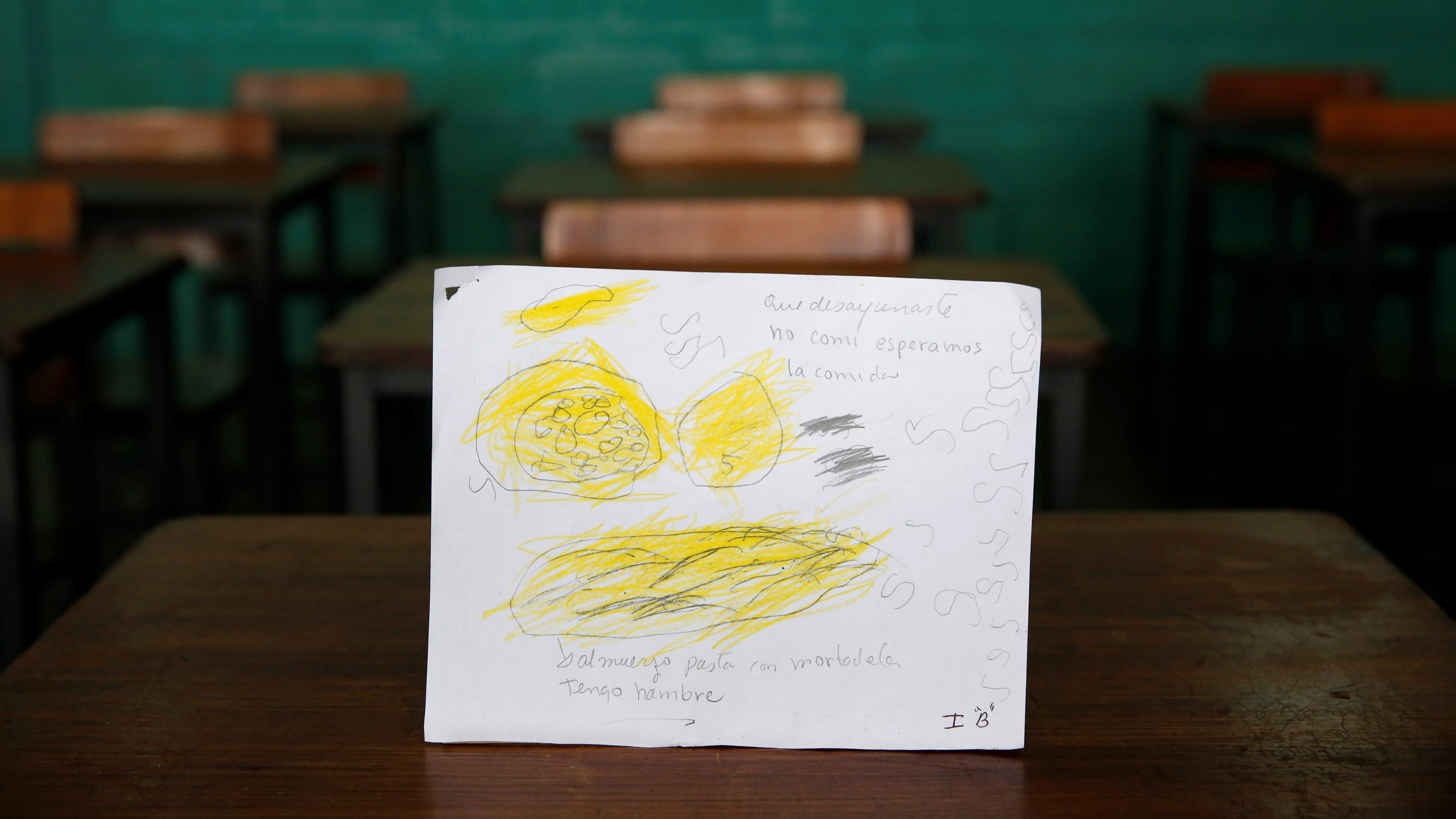 The Wider Image: Venezuelan children express hunger in drawings