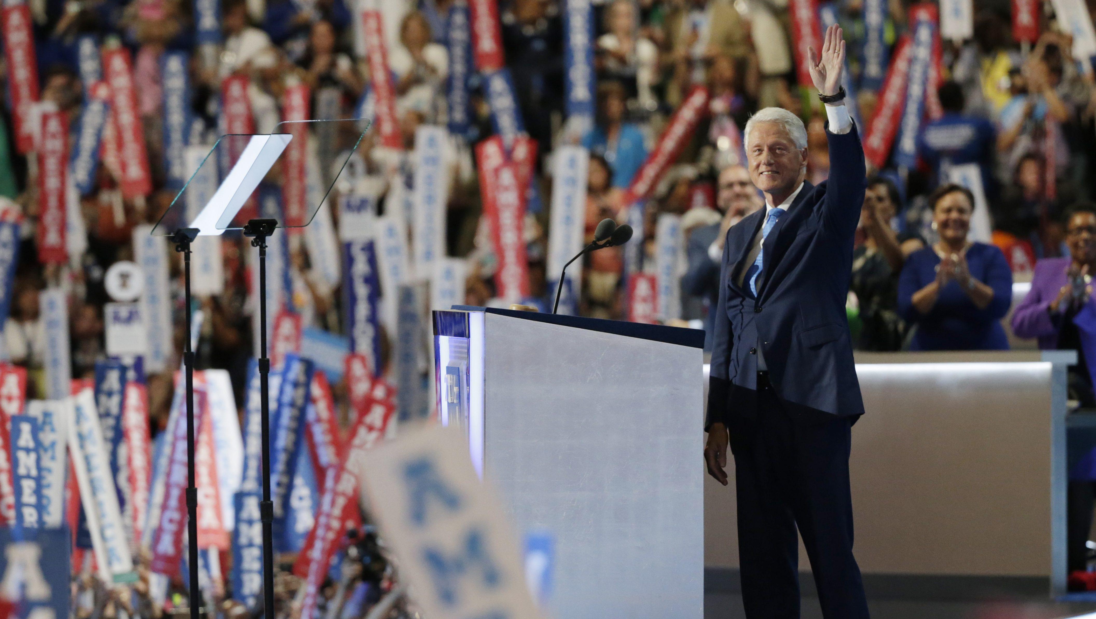 Bill Clinton at DNC 2016