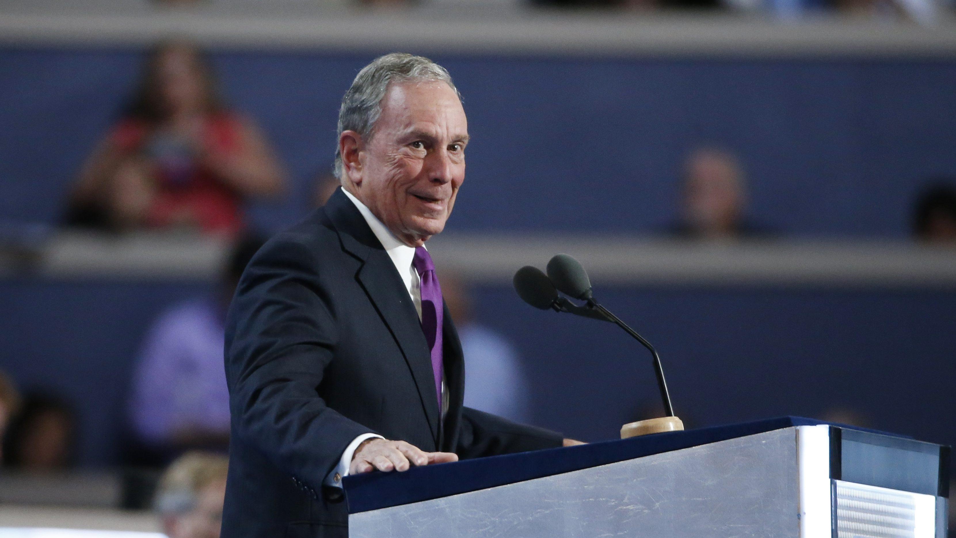 Former New York Mayor Michael Bloomberg speaks at the Democratic National Convention in Philadelphia, Pennsylvania, U.S. July 27, 2016.