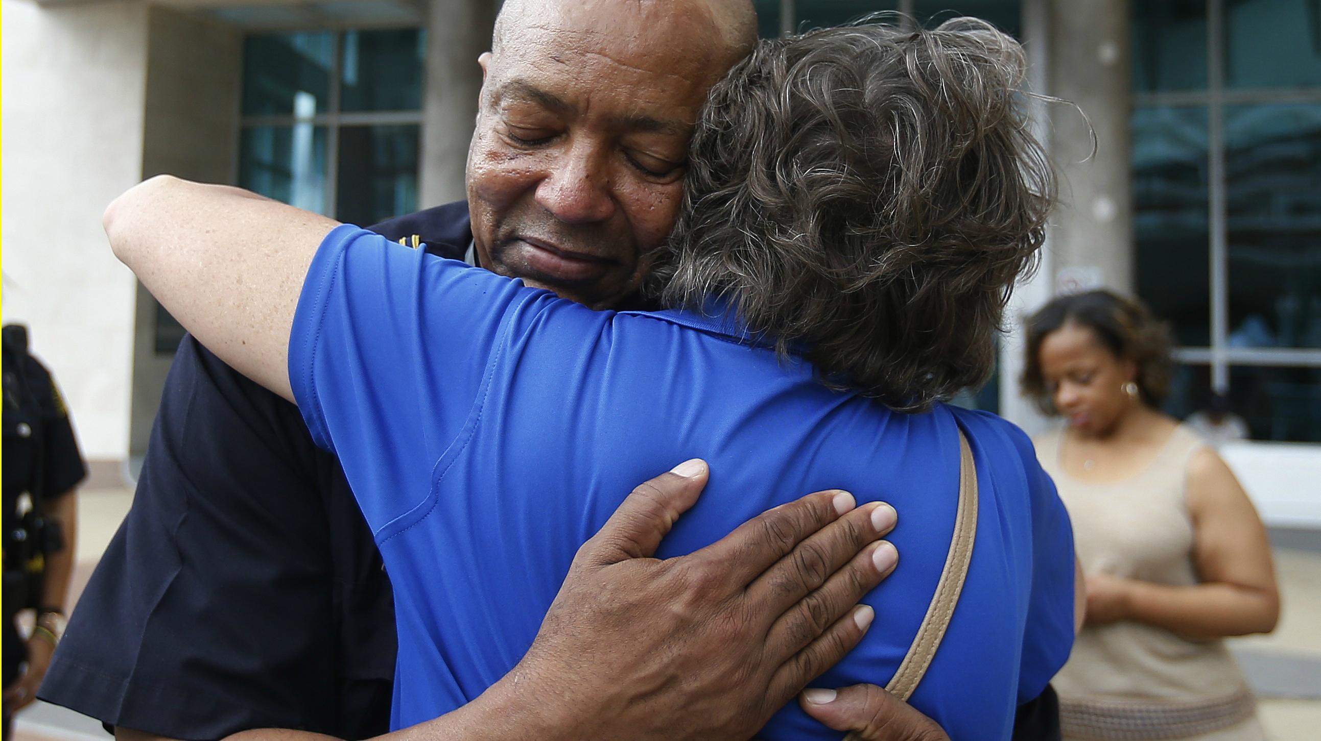 dallas, police, hug, black lives matter