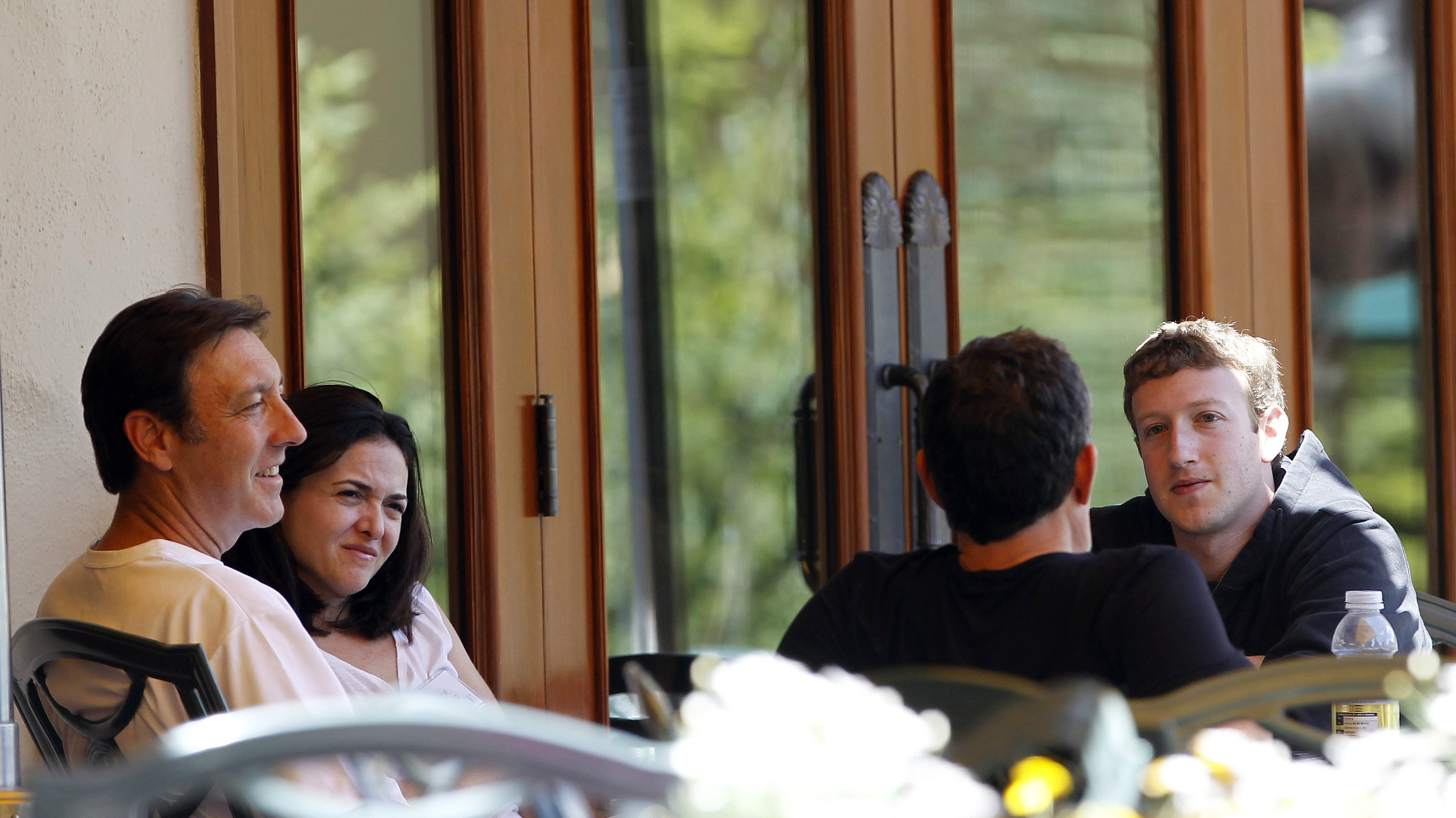 Sheryl Sandberg and Mark Zuckerberg in Sun Valley.