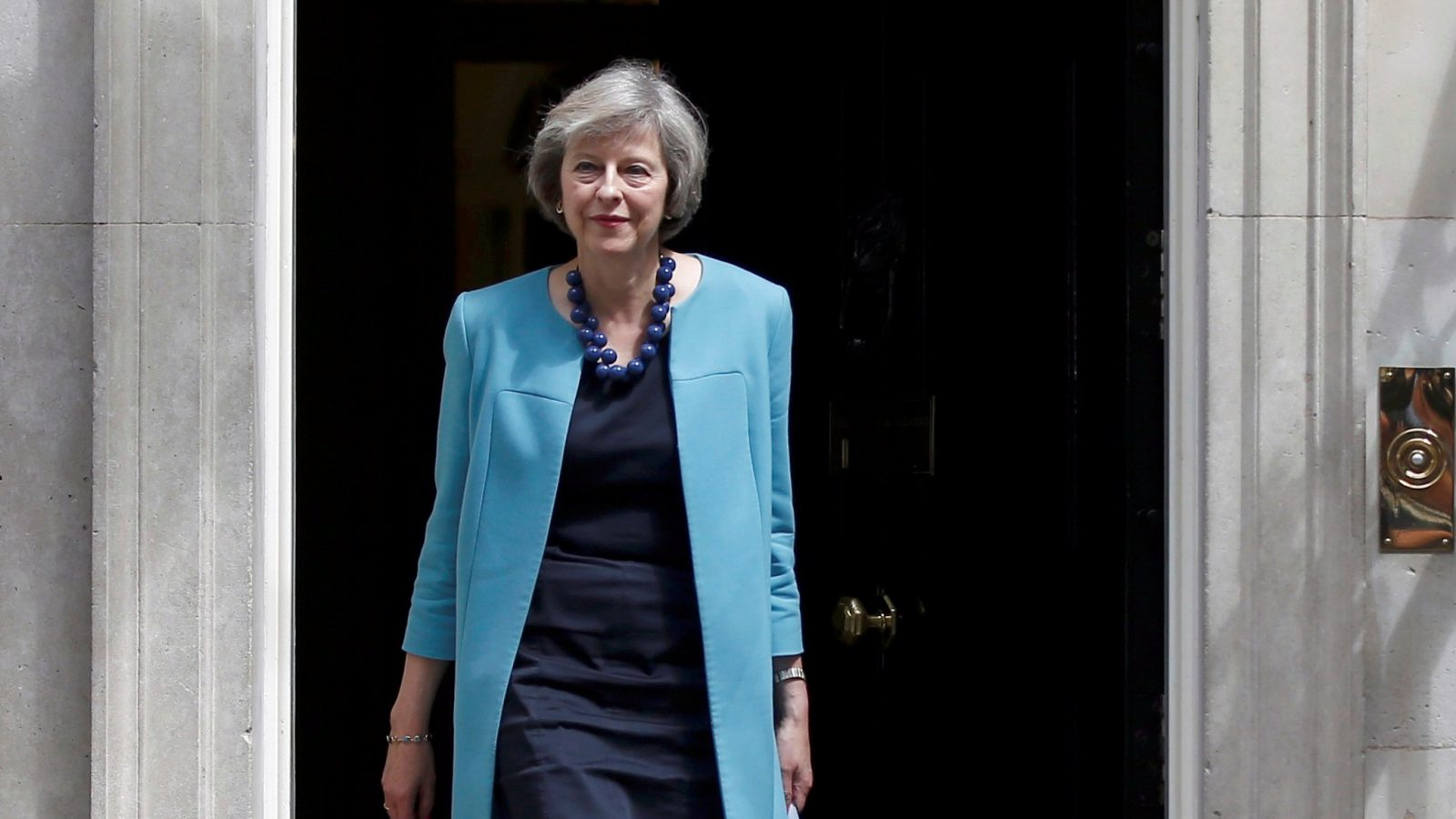 Britain's Home Secretary, Theresa May, leaves after a cabinet meeting in Downing Street in central London, Britain June 27, 2016.     REUTERS/Peter Nicholls/File Photo - RTSHEUI