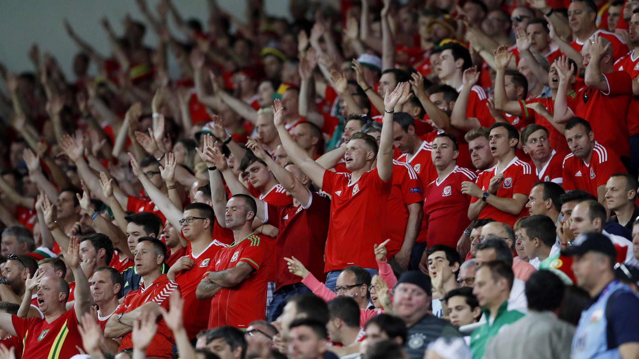 Football Soccer - Portugal v Wales - EURO 2016 - Semi Final - Stade de Lyon, Lyon, France - 6/7/16 Wales fans