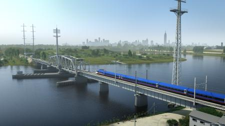A rendering of the next generation Acela train in New Jersey.