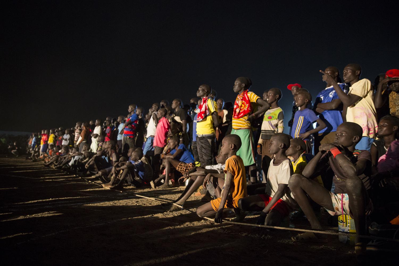 Refugees watch the 2016 Olympics at Kakuma Refugee camp