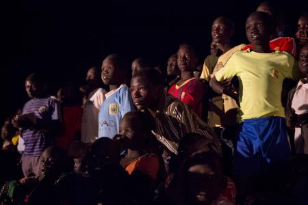 Refugees watch the 2016 Olympics at Kakuma Refugee camp