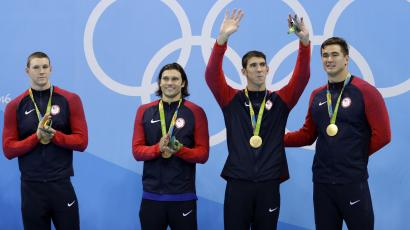 Michael Phelps and US Swimmers