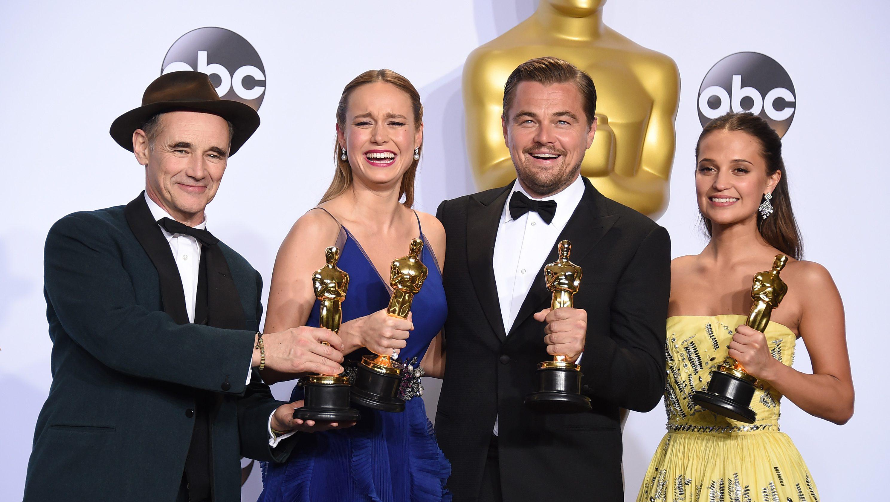 Mark Rylance, Brie Larson, Leonardo DiCaprio, Alicia Vikander