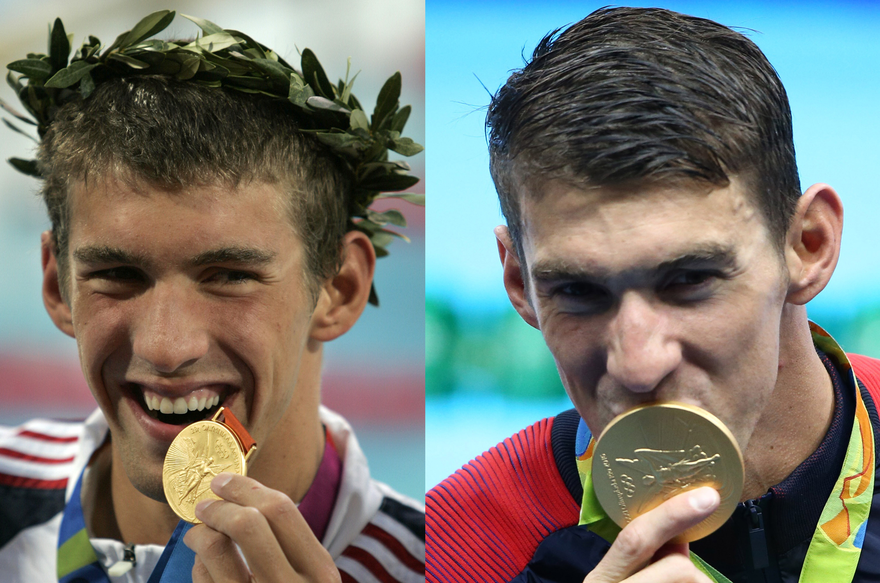 Michael Phelps gold medal 2004 and 2016