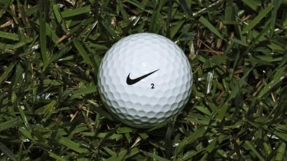 A Nike One golf ball is seen Friday, June 21, 2013, in Tampa, Fla. Nike Inc. reports quarterly financial results after the market closes Thursday, June 27, 2013. (AP Photo/Chris O'Meara)
