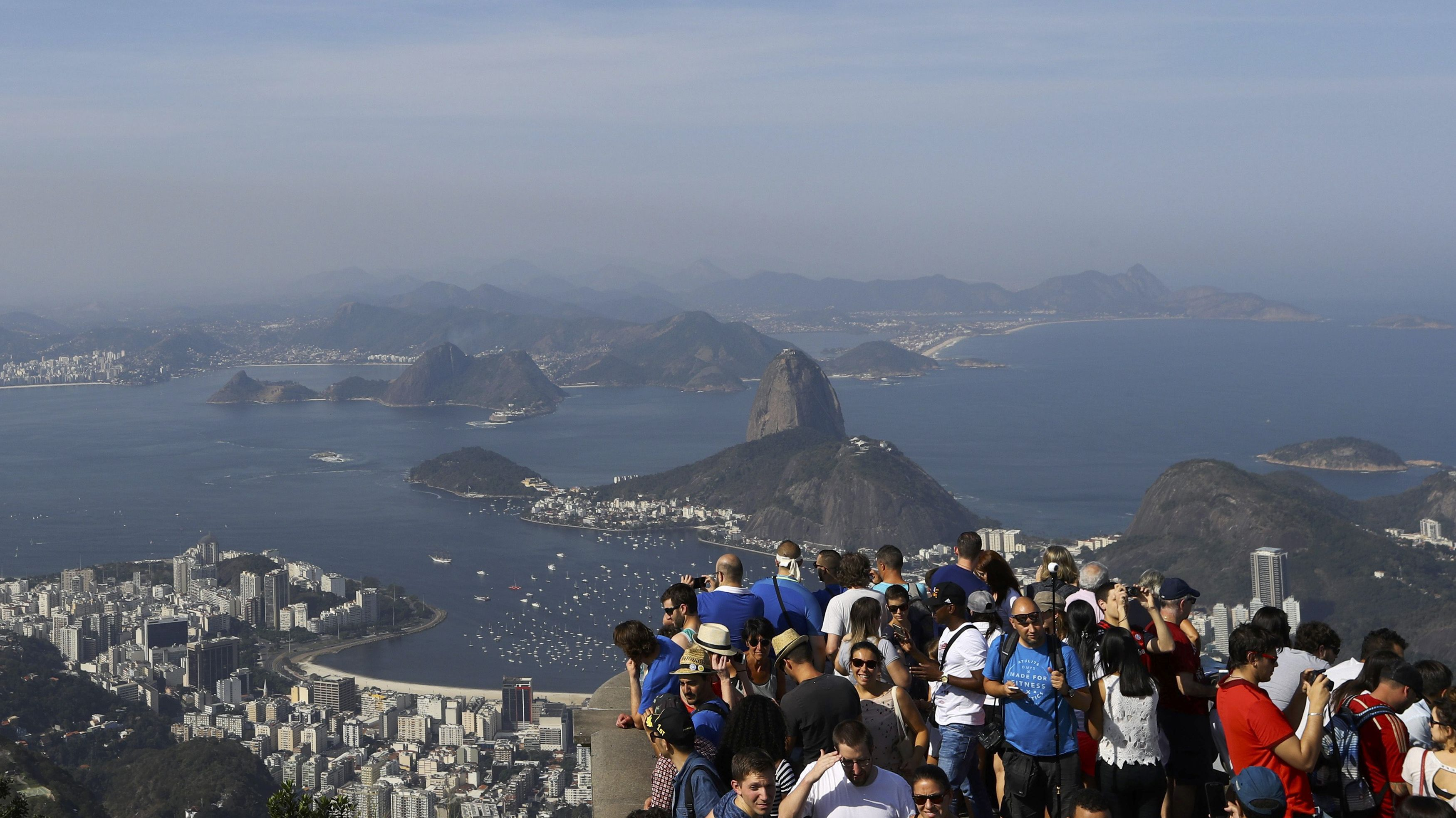 Tourists visit the Christ the Redeemer statue in Rio de Janeiro, Brazil August 6, 2016.