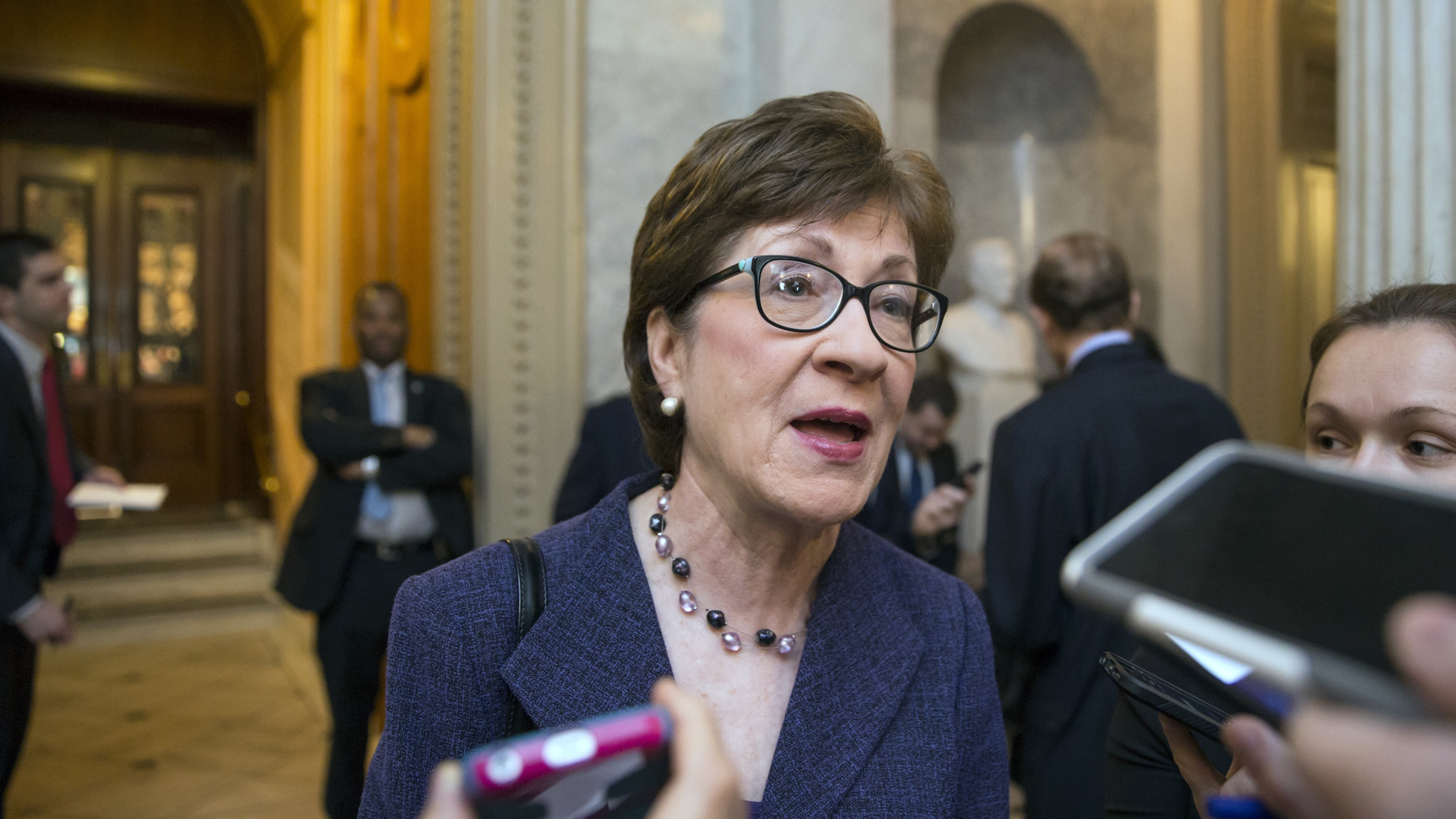 Senator Susan Collins of Maine says she won't be supporting her party's candidate for president in November.