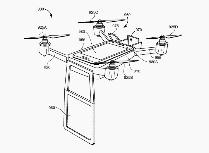 Google projection drone