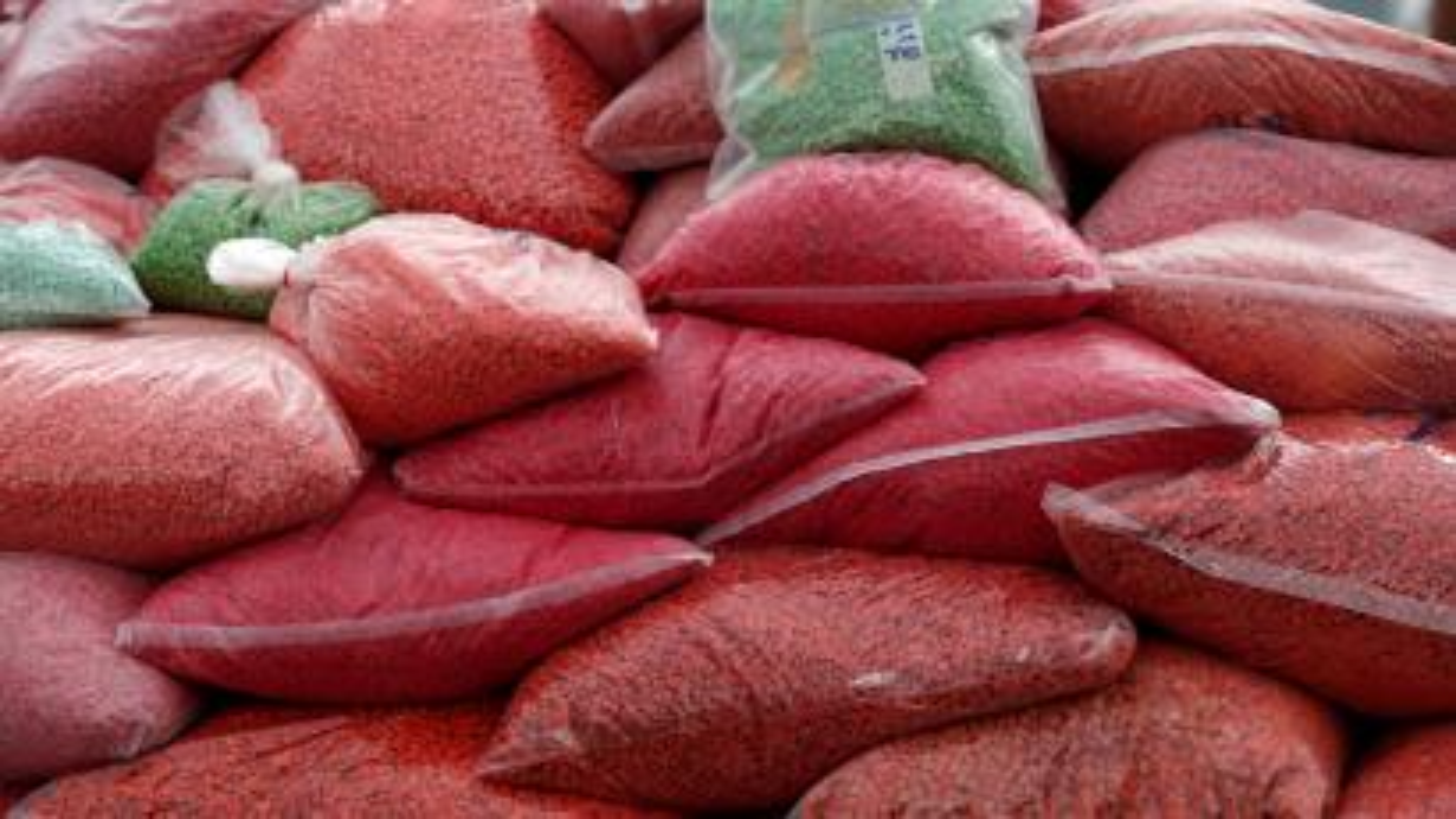 Bags of methamphetamine pills