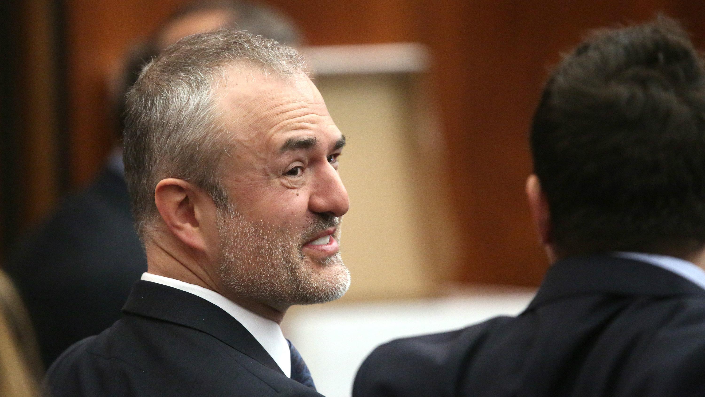 Nick Denton in court.