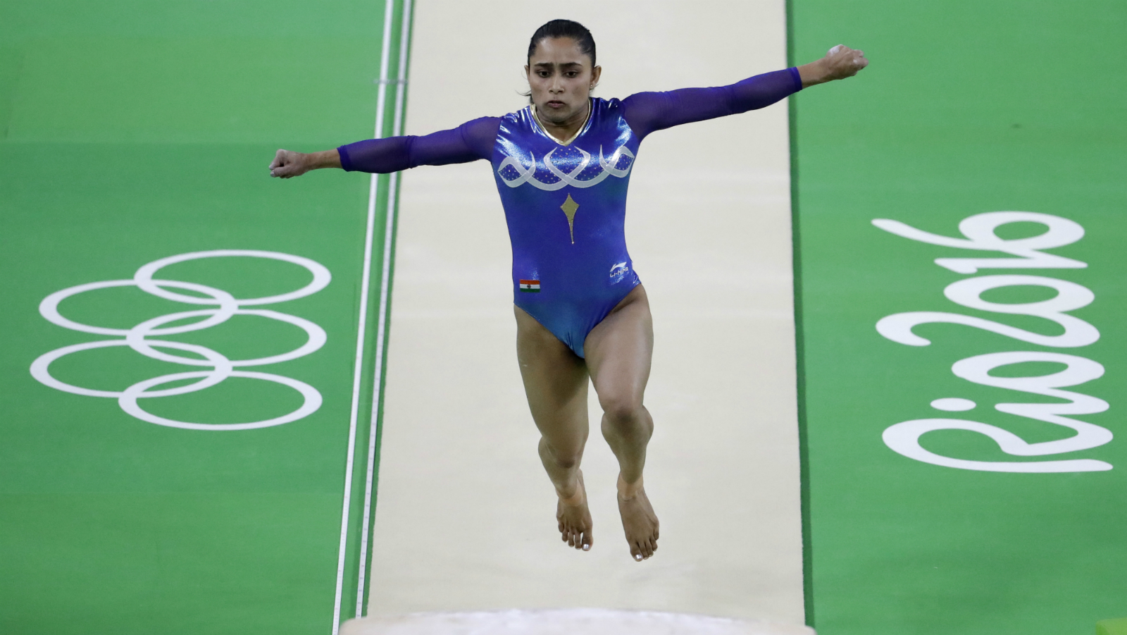 India's Dipa Karmakar performs on the vault during the artistic gymnastics women's apparatus final at the 2016 Summer Olympics in Rio de Janeiro, Brazil, Sunday, Aug. 14, 2016. ()