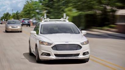 Self-driving Ford car.