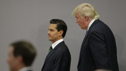 U.S. Republican presidential nominee Donald Trump and Mexico's President Enrique Pena Nieto
