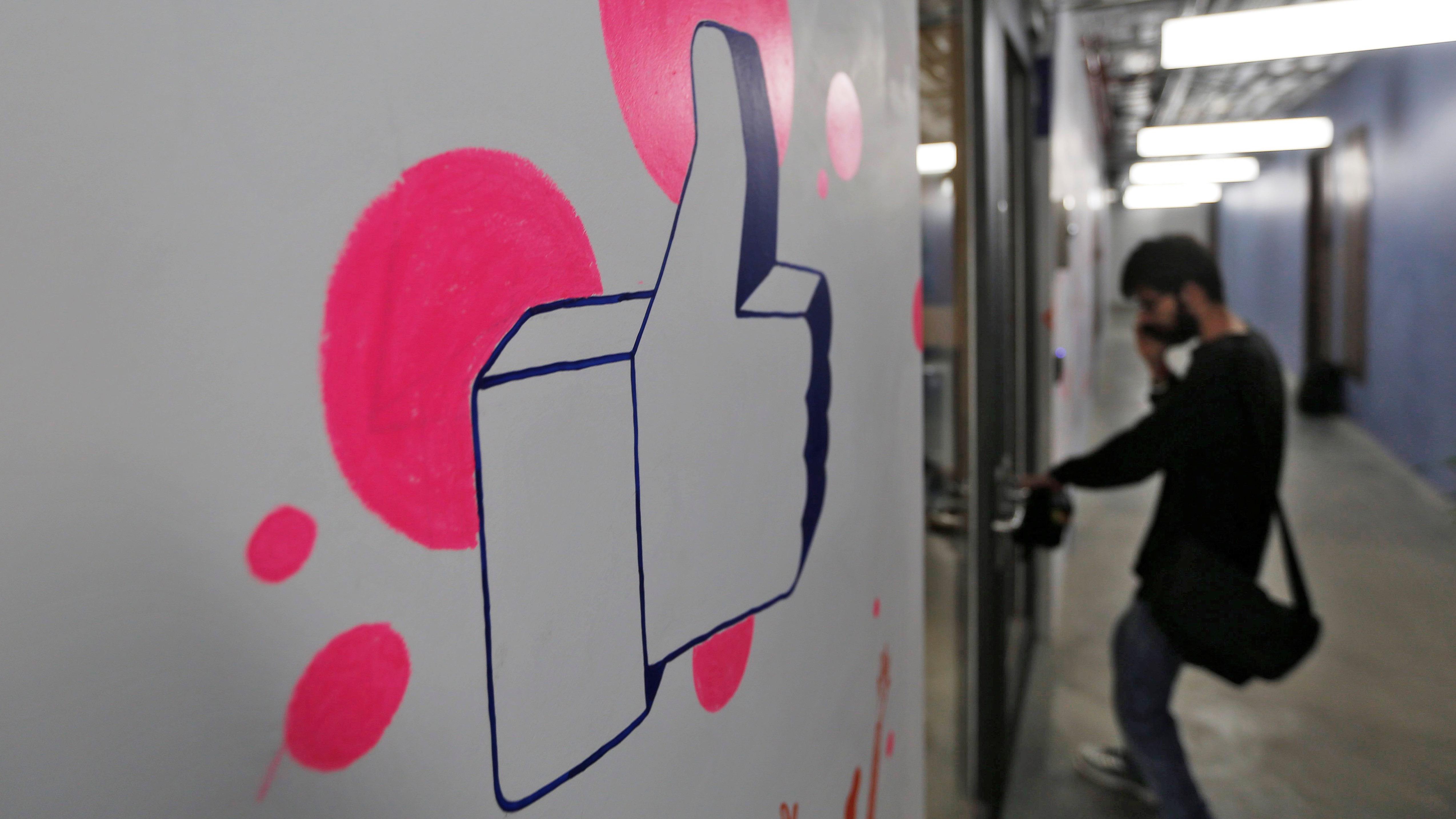 Man enters Facebook's Mumbai Office
