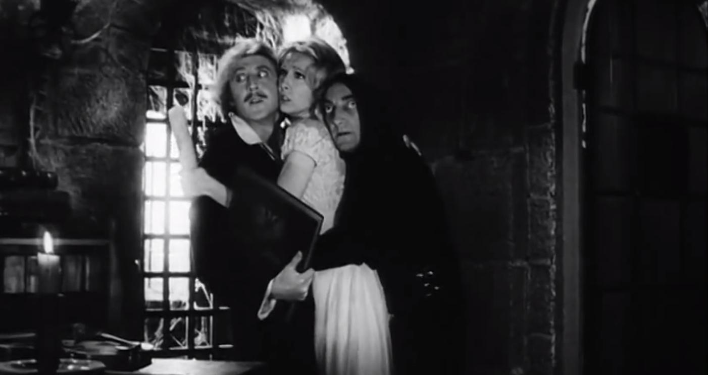 Comedy actor Gene Wilder in the Young Frankenstein movie