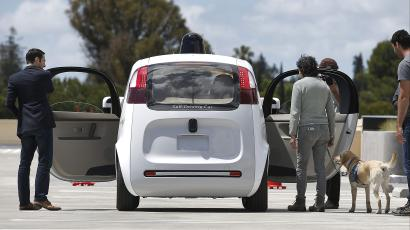 A prototype for Google's self-driving car.