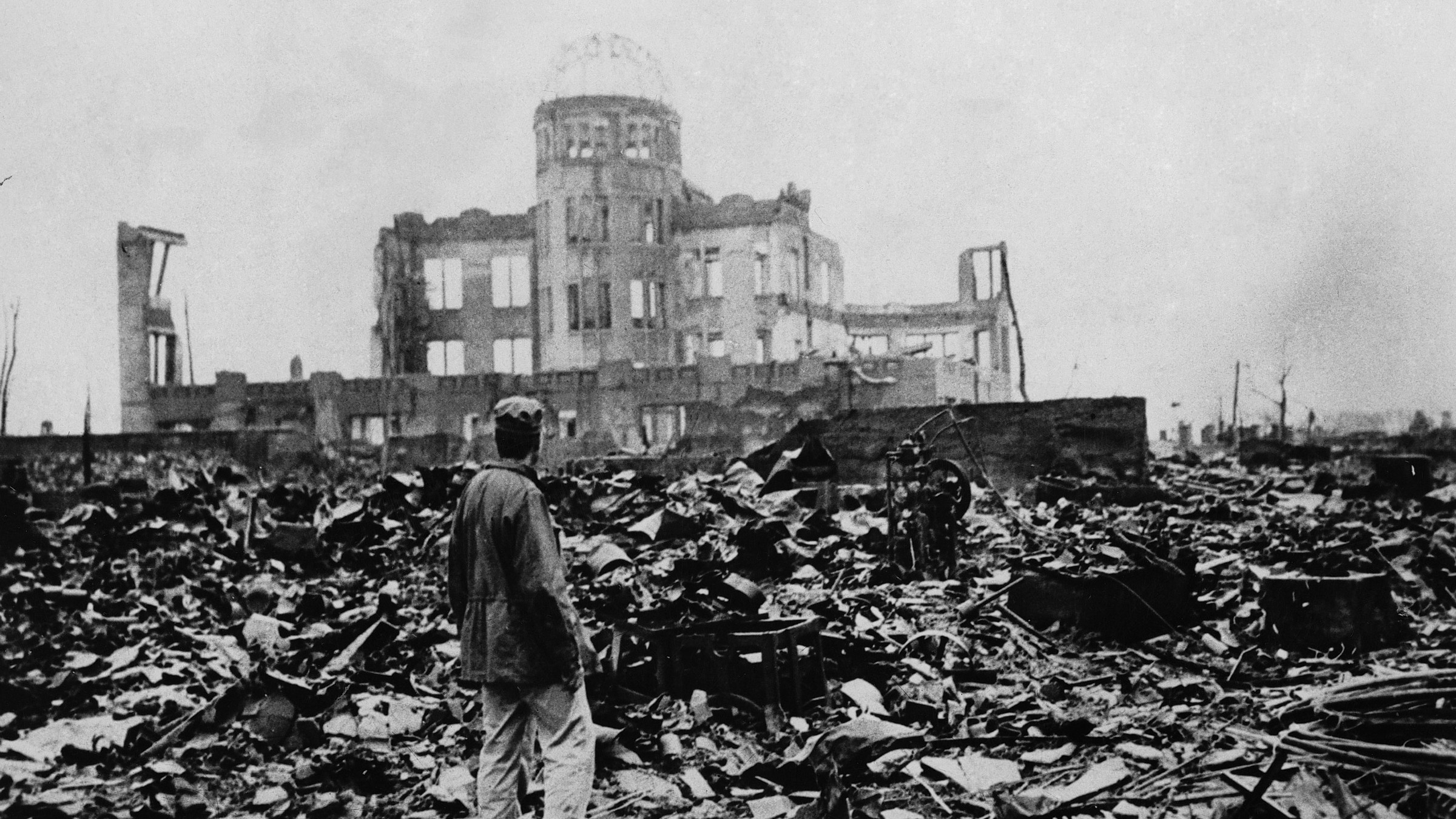 The expanse of ruins left the explosion of the atomic bomb on August 6, 1945 in Hiroshima, Japan.