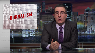 "Screenshot of HBO's ""Last Week Tonight with John Oliver"" on Aug.  7."