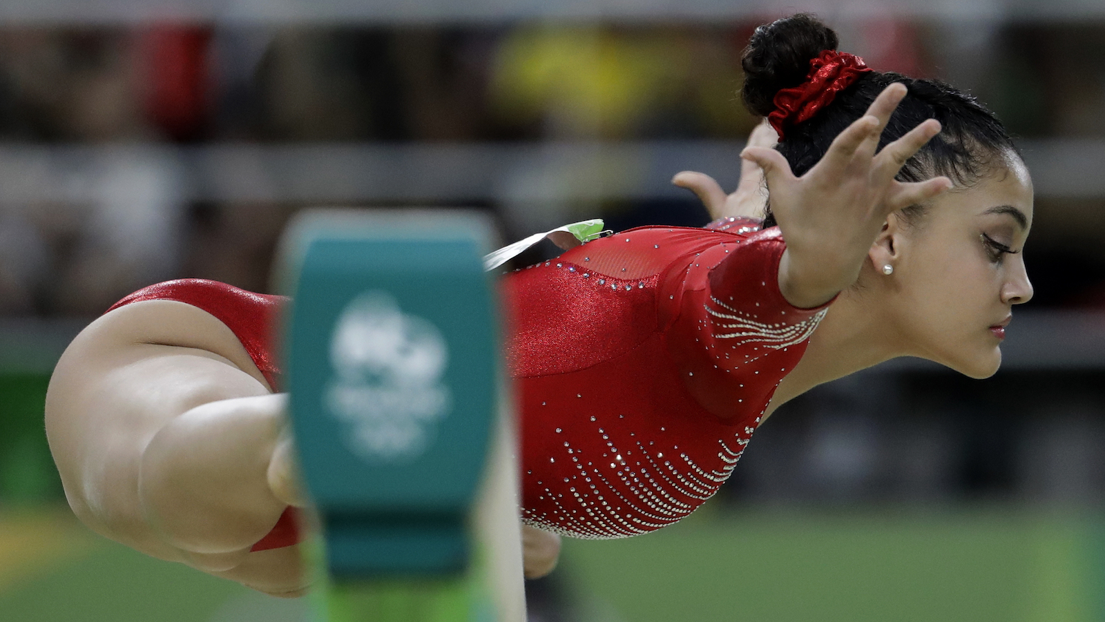 Laurie Hernandez during the Olympic balance beam finals