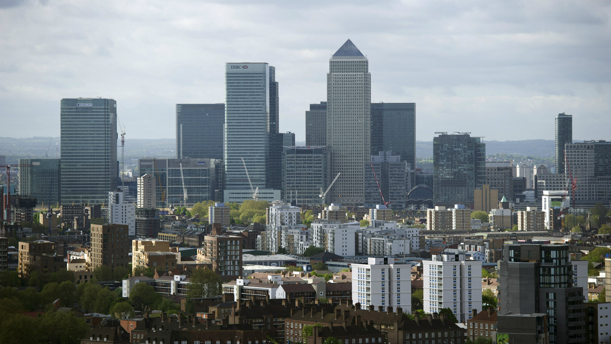 View of London's financial district