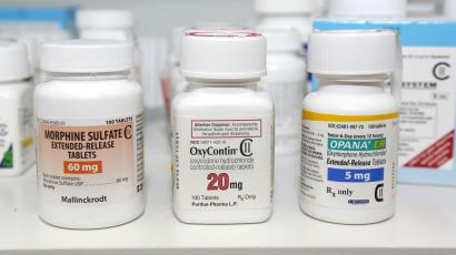 Bottles of OxyContin