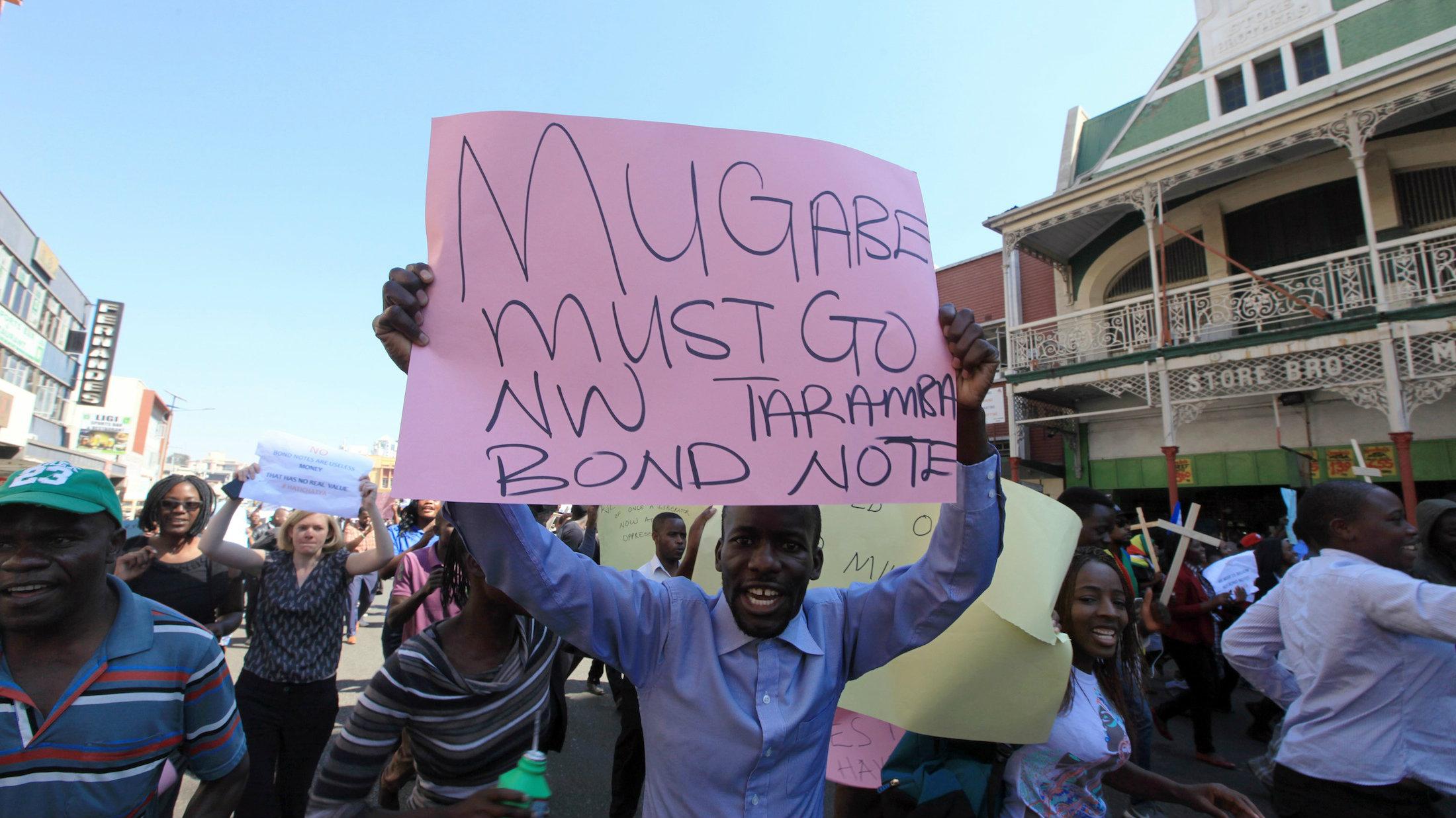 Mugabe must go, poster