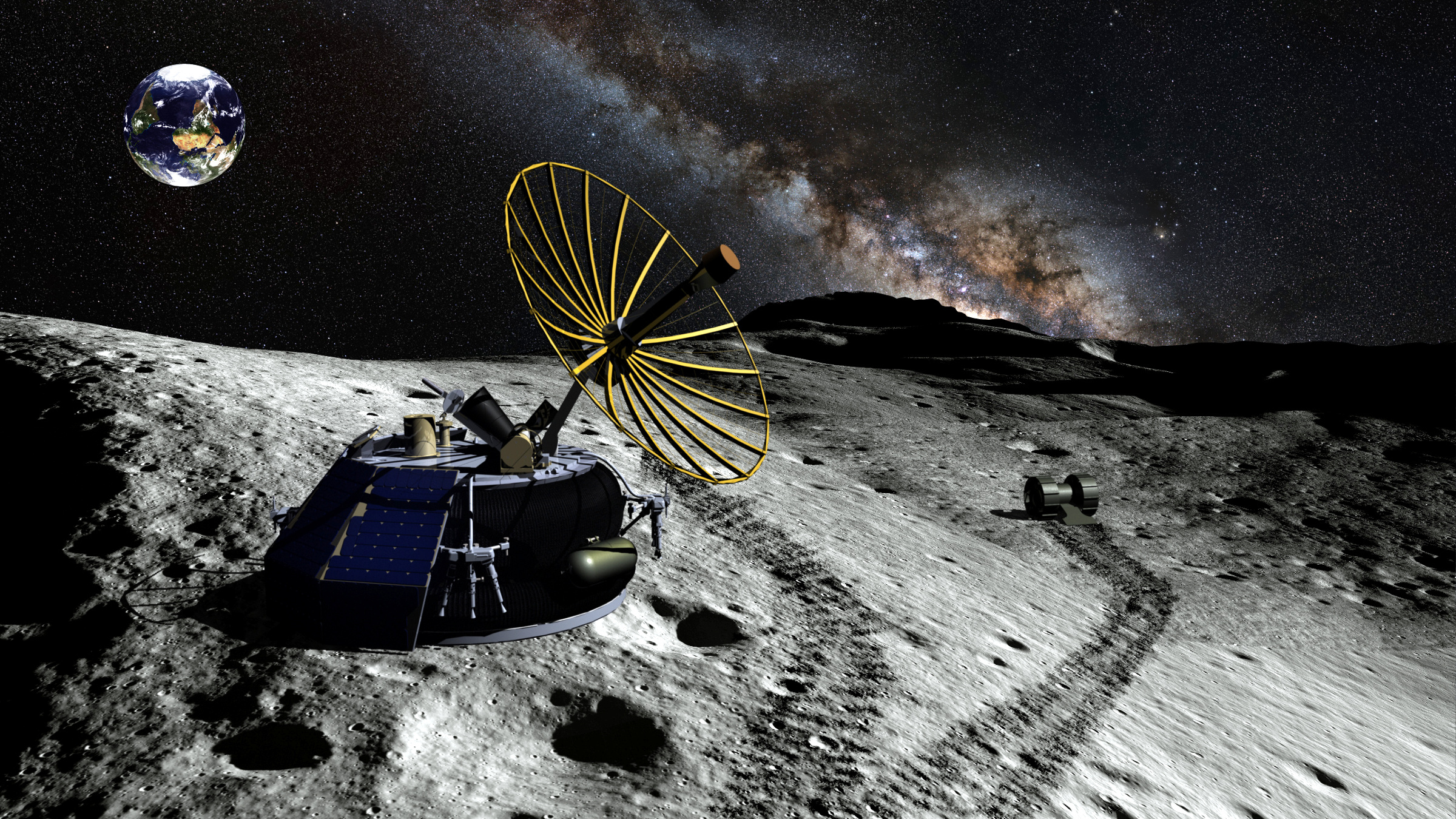 An artists' rendering of the Moon Express MX-1 lander.