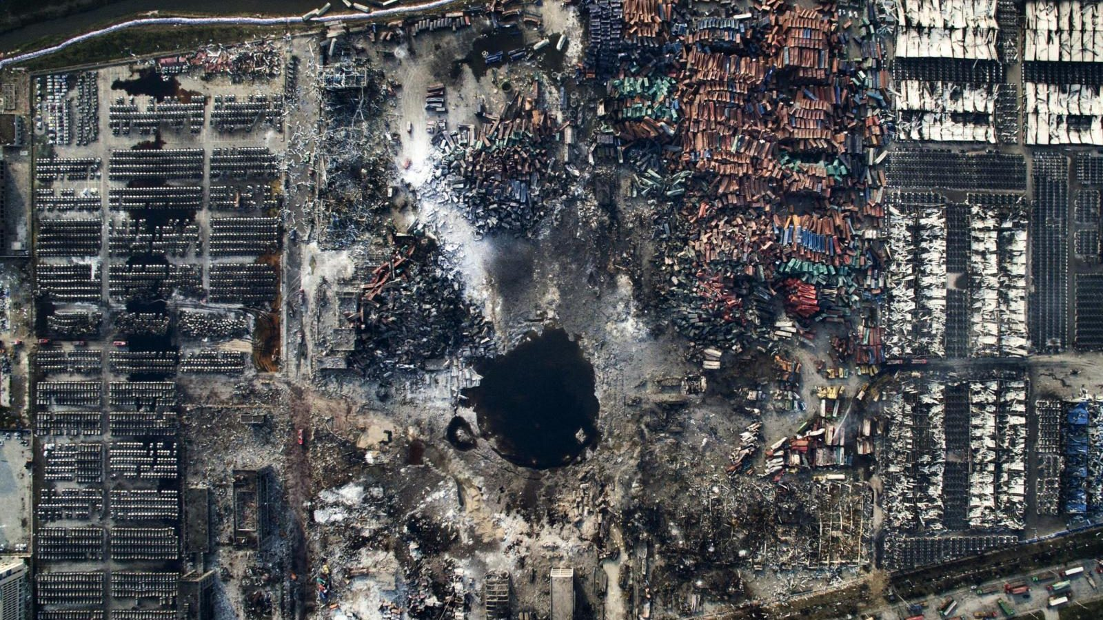 The Tianjin explosions, taken on Aug. 15, 2015.