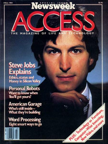 Newsweek Access the Magazine of Life and Technology Steve Jobs cover
