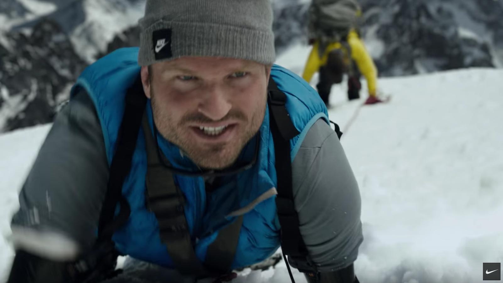 Screenshot of Nike's commercial starring Kyle Maynard.
