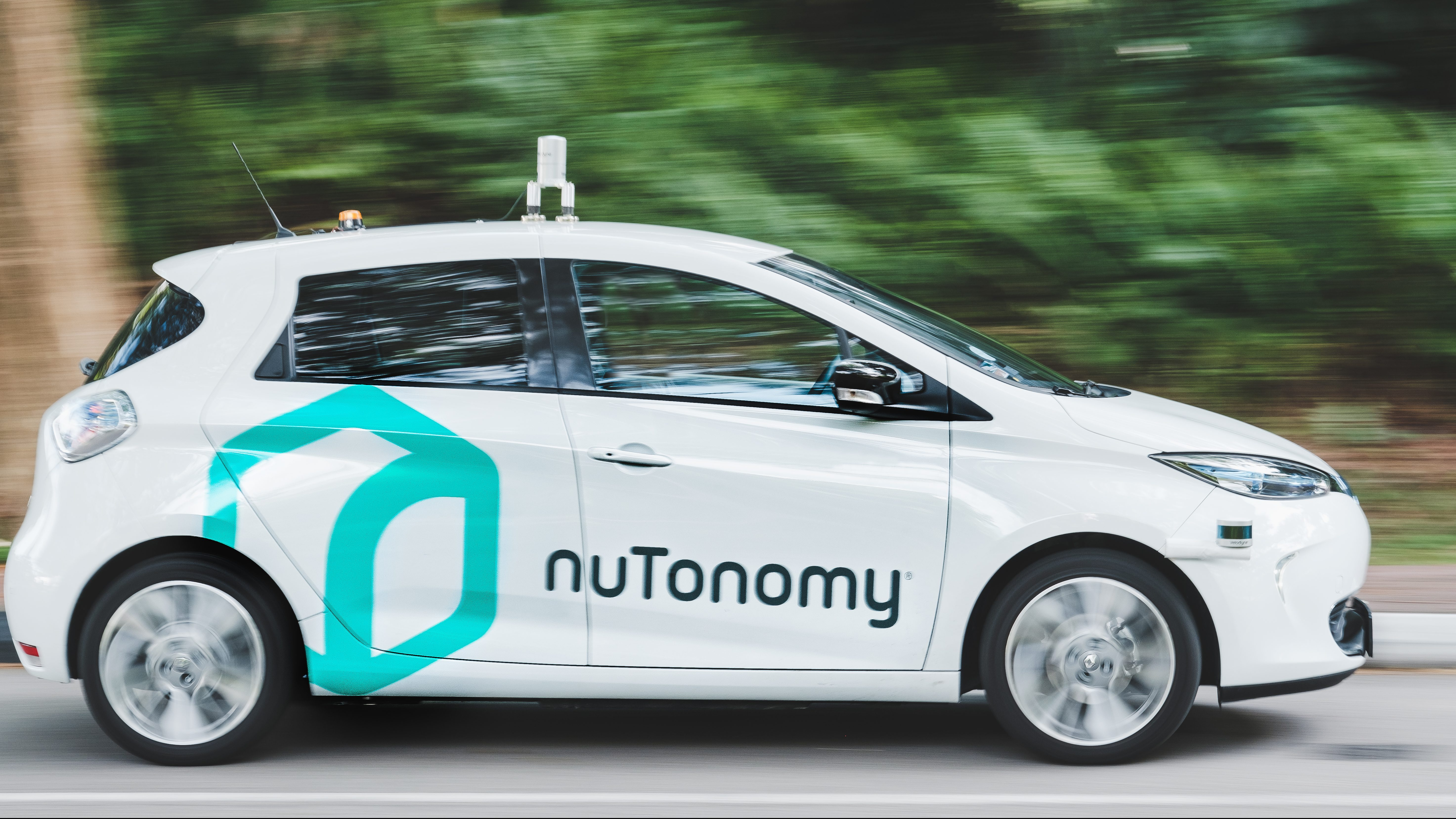 A NuTonomy self-driving taxi in Singapore