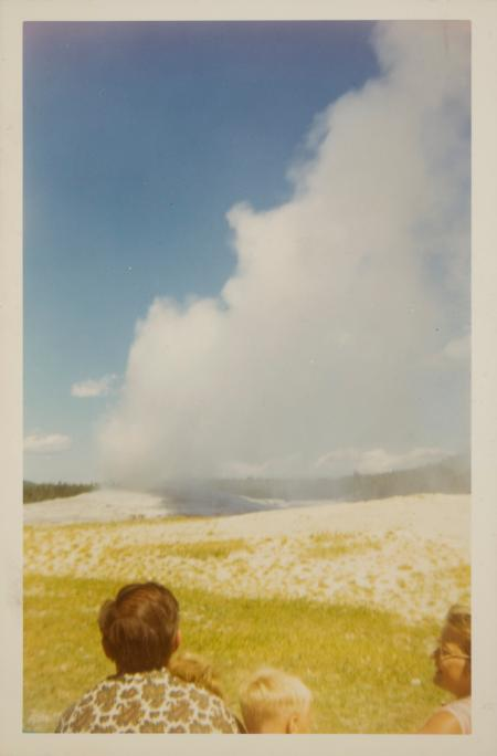 Old Faithful geyser, Yellowstone National Park, August 1968.