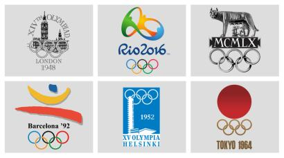 olympics logos collage