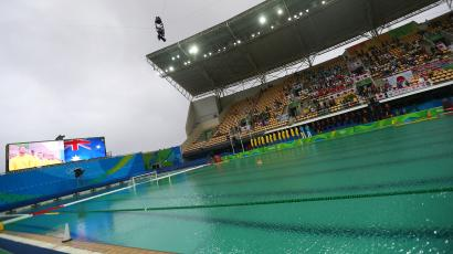 The Olympic water polo pool in Rio