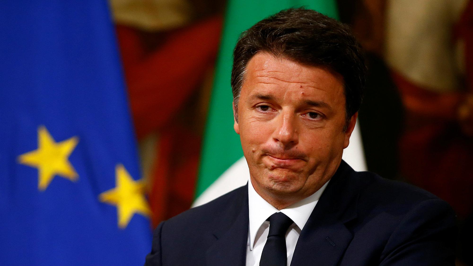 Italian Prime Minster Matteo Renzi