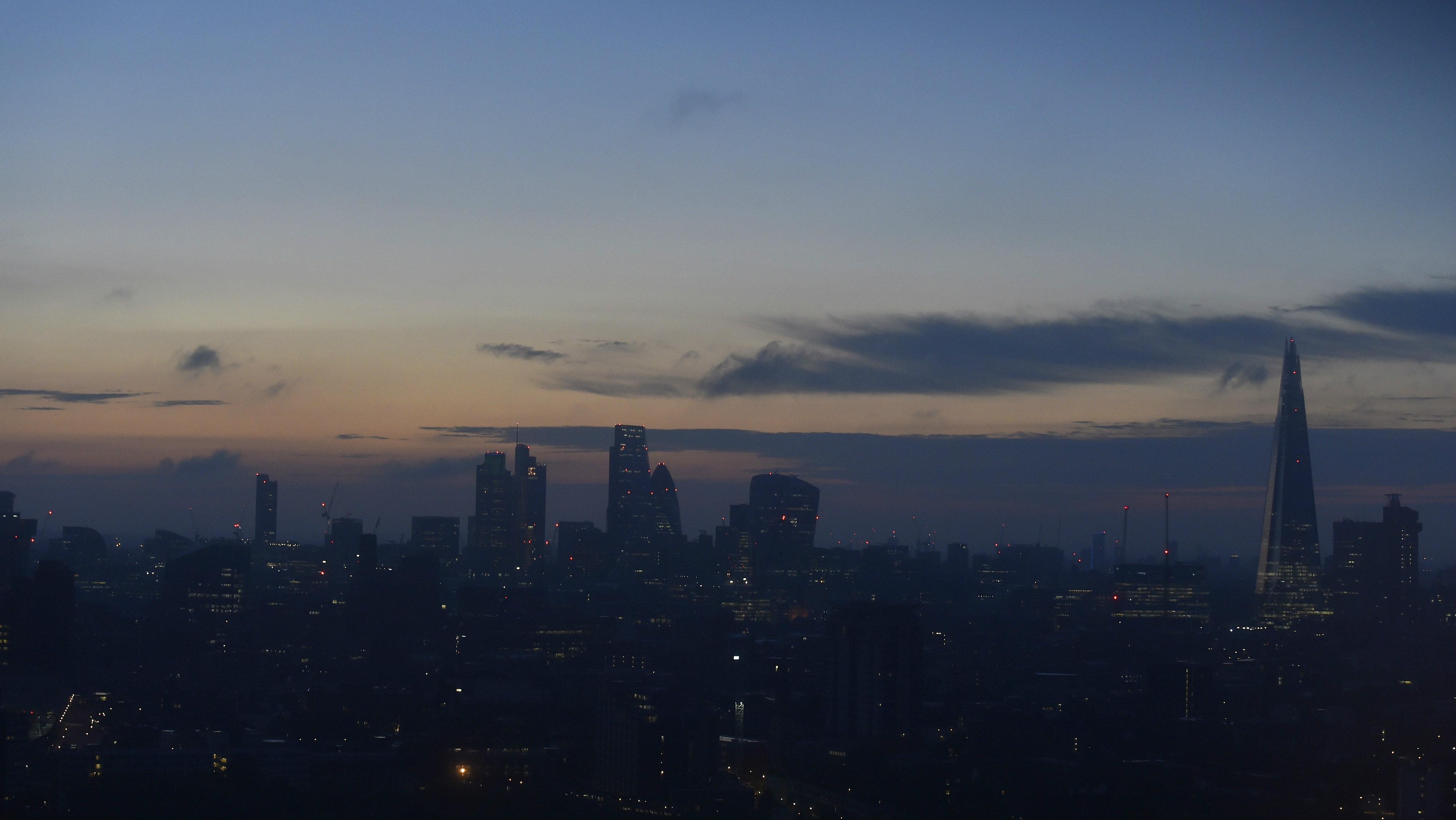 London at dawn