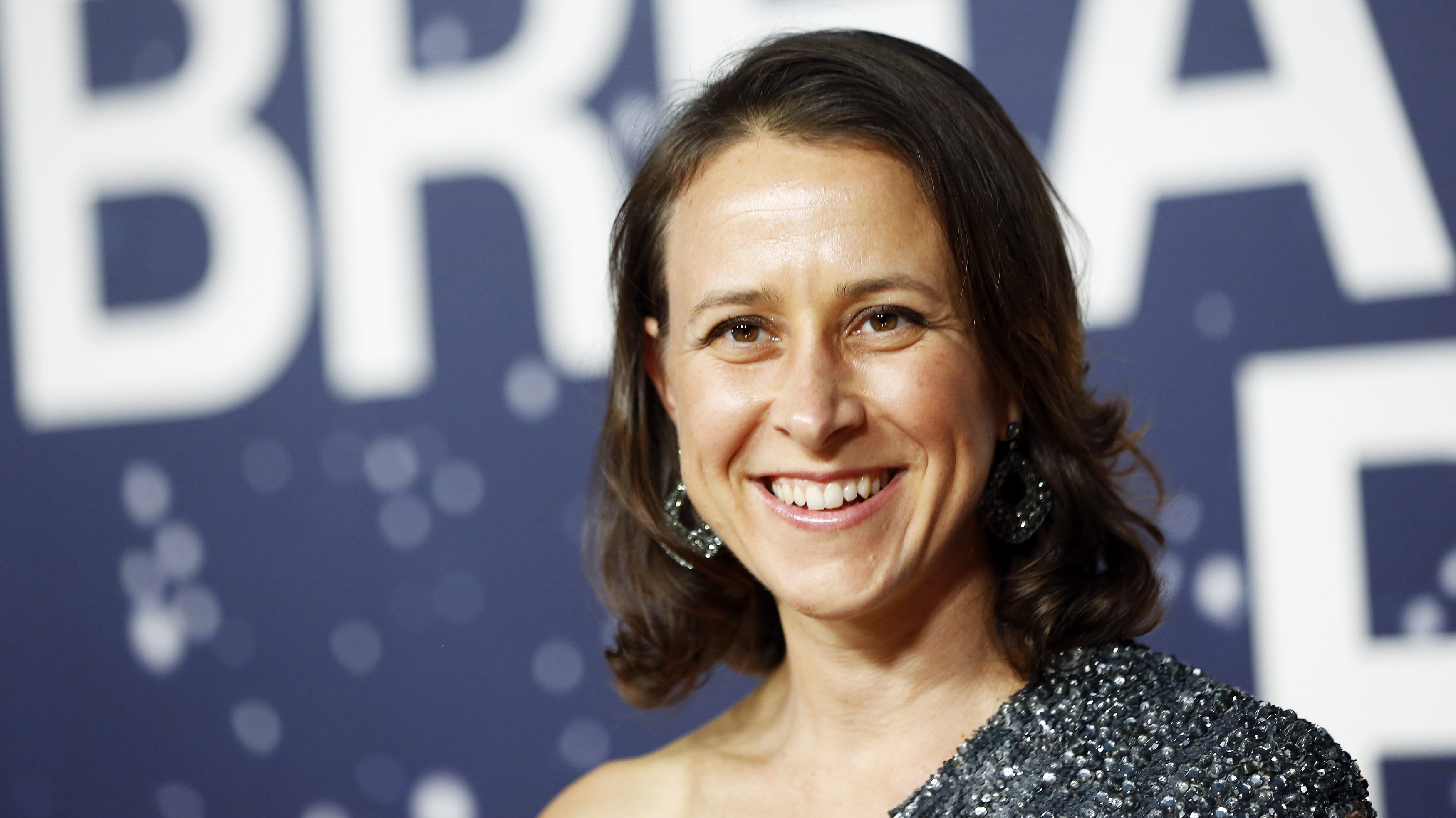 Breakthrough Prize Co-Founder Anne Wojcicki arrives on the red carpet during the second annual Breakthrough Prize Awards at the NASA Ames Research Center in Mountain View, California November 9, 2014.