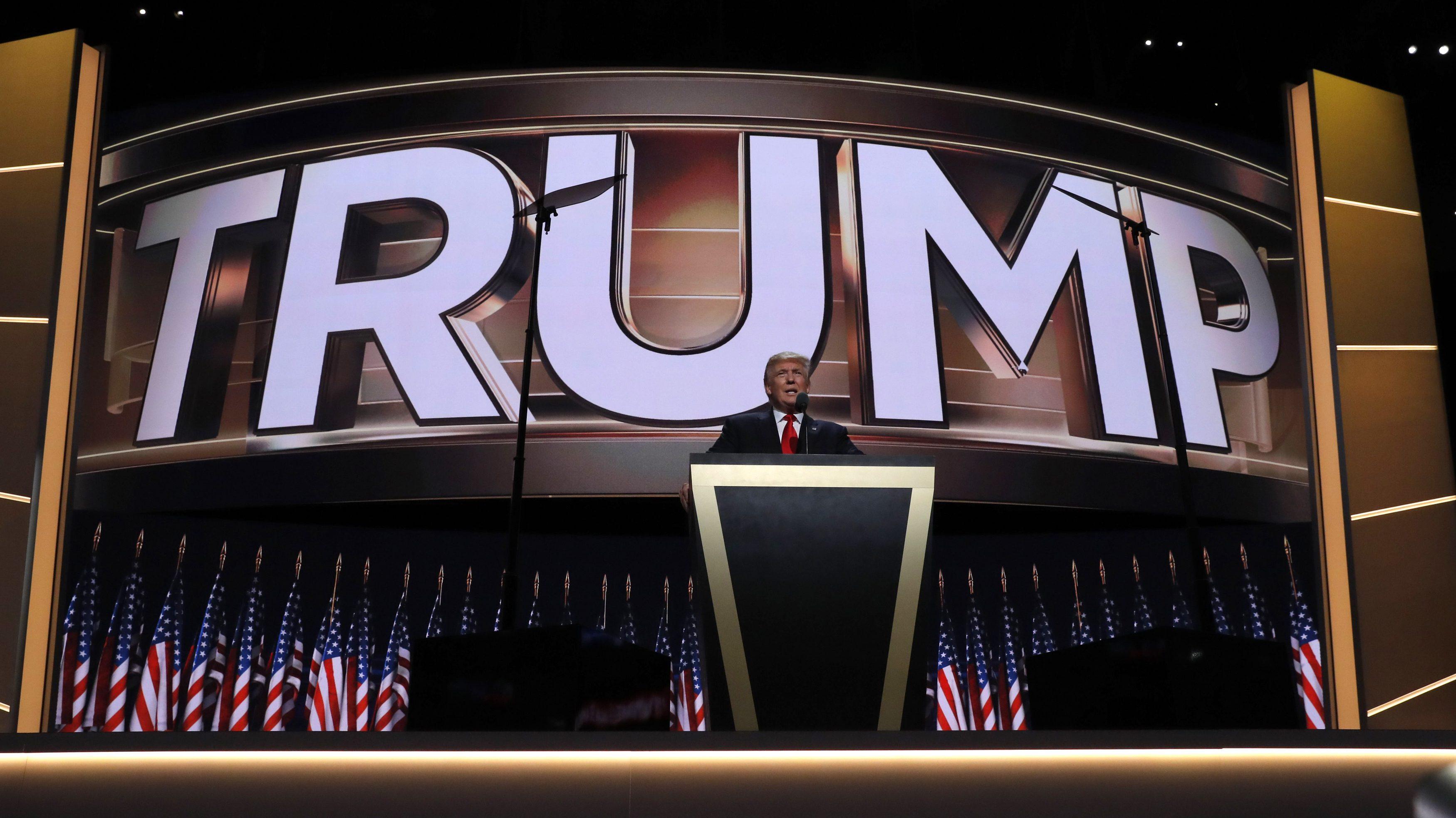 Donald Trump at 2016 RNC