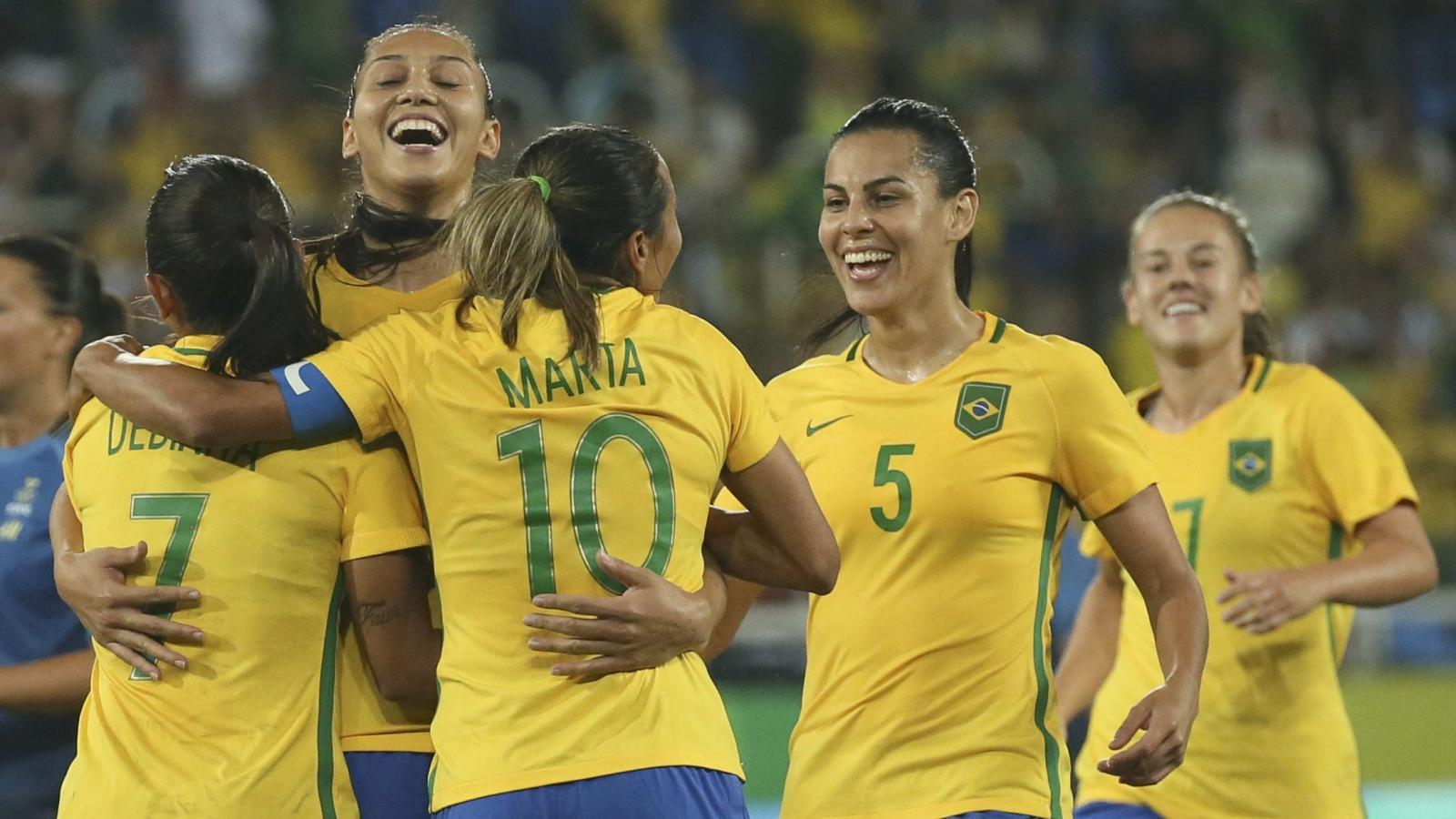 8aae58cede0 Rio Olympics 2016  With Team Brazil jerseys for the women s Olympic ...