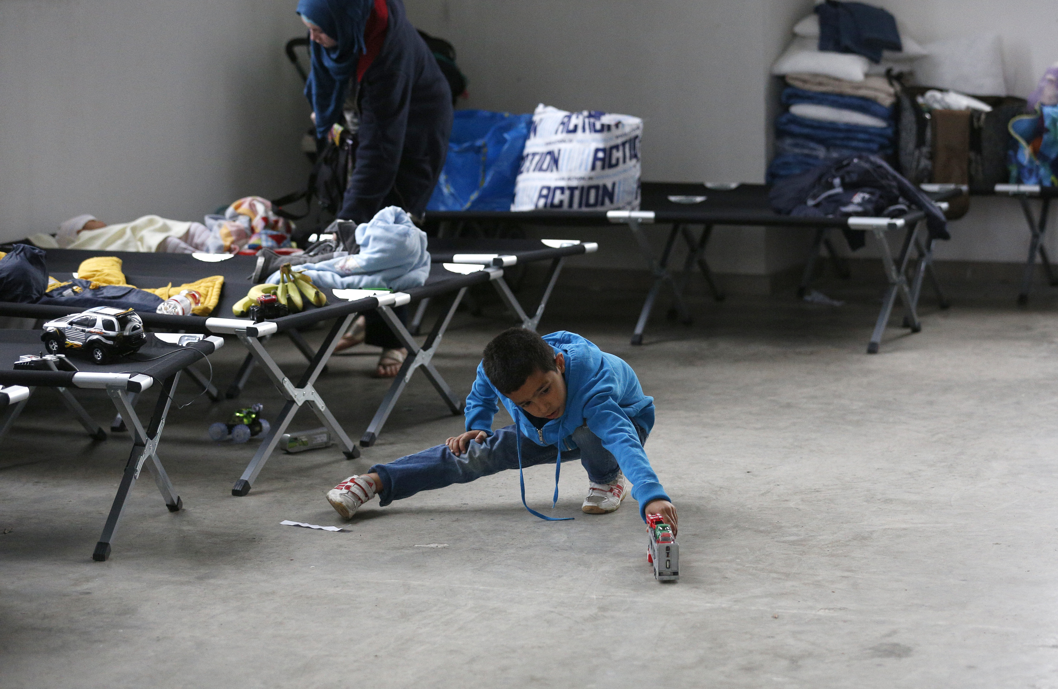 A boy from Syria at a refugee centre in Germany