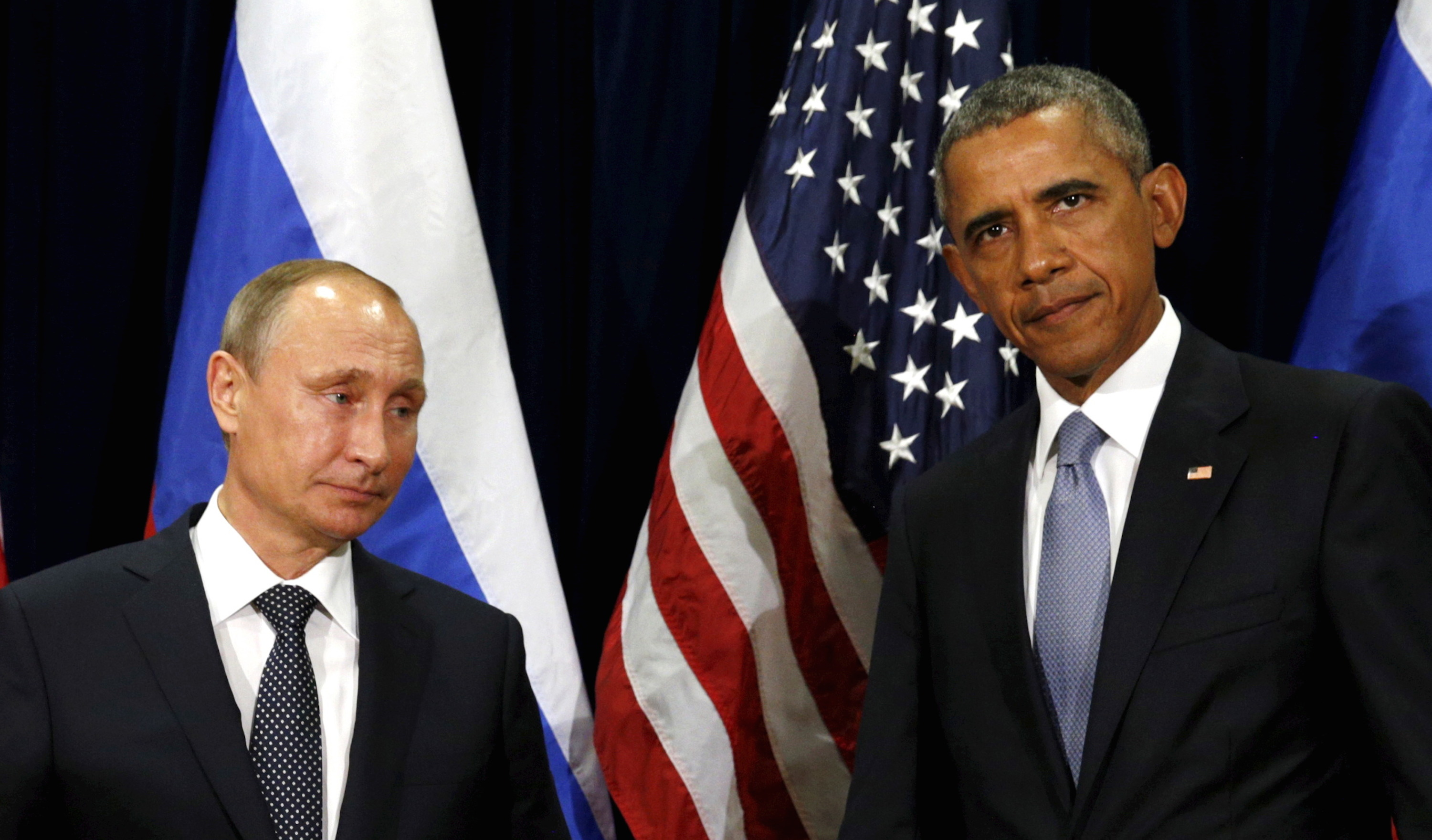 U.S. President Barack Obama and Russian President Vladimir Putin meet at the United Nations General Assembly in New York