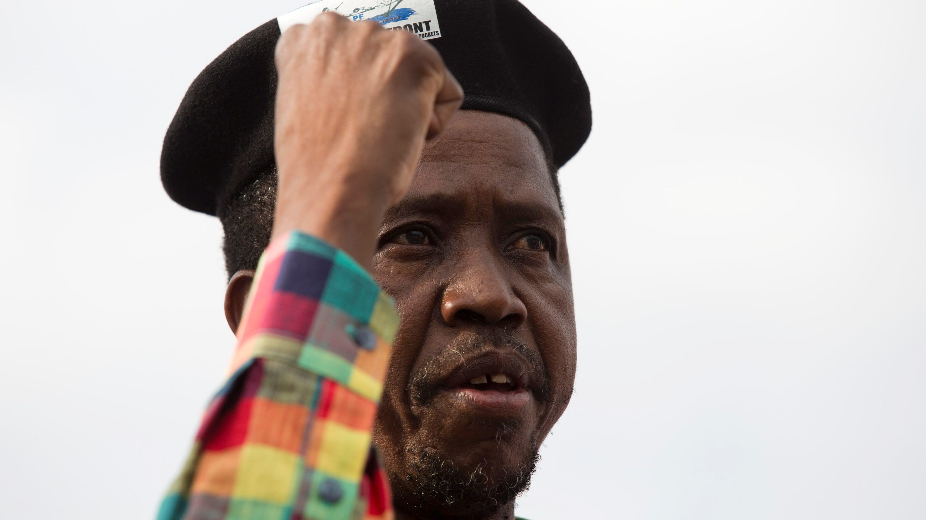 Zambia's President Edgar Lungu speaks at a rally in the capital Lusaka